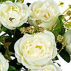 Букет з троянд 32 см білий, фото 2