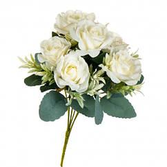 Букет з троянд 32 см білий