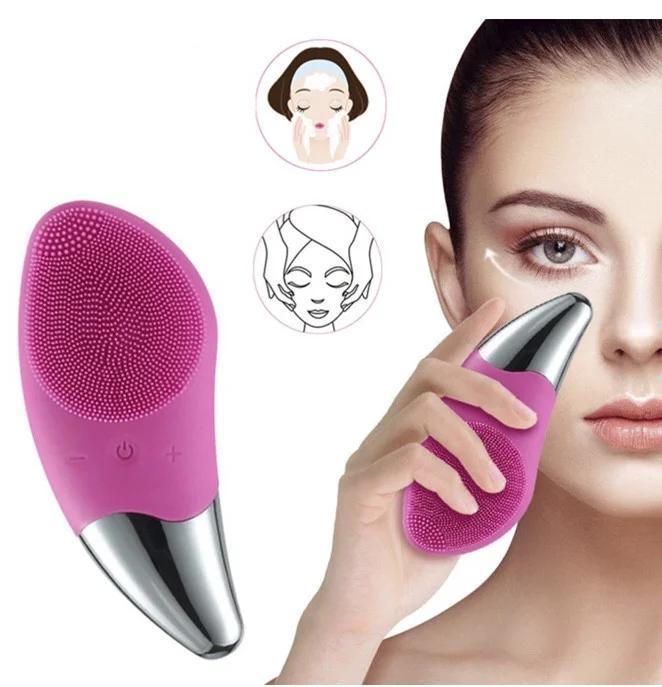 Аккумуляторная очищающая щетка для лица  Sonic Vibration Cleanser