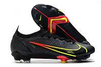 Футбольные бутсы Nike Mercurial Vapor XIV Elite FG Black/Cyber/Off Noir