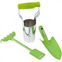 Набор садового инструмента, цельнометаллический, 3 предмета, Fresh Line, Palisad