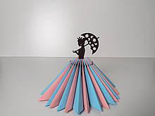 """Салфетница """"Принцесса с зонтиком"""" венге"""
