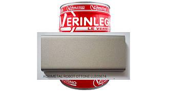 Металлический эффект 2K Акриловый VERINLEGNO (цвет ACRIMETAL ROBOT OTTONE LLE03674 ) ,тара 1л