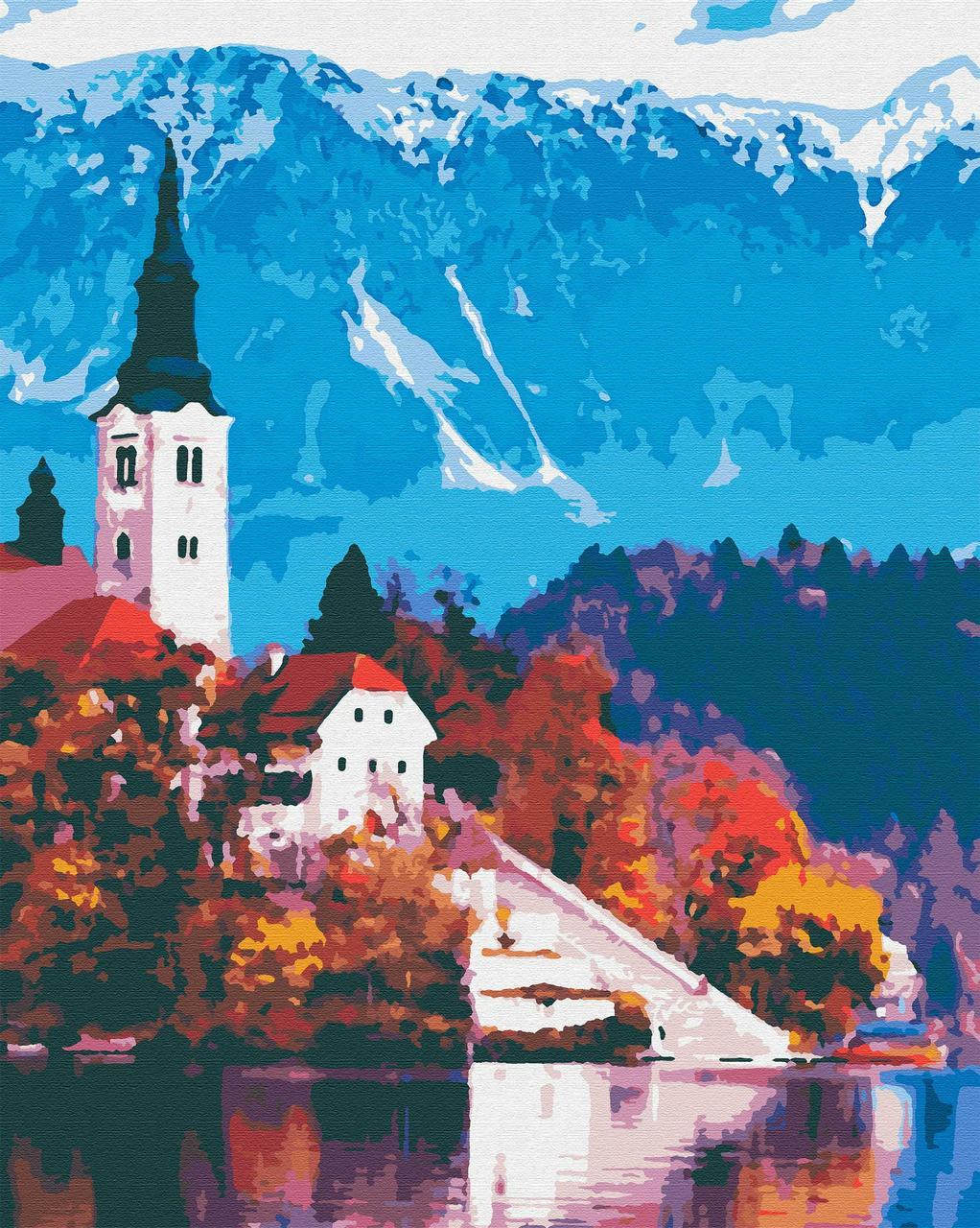 Картина по номерам путешествия 40х50 Австрийский Пейзаж