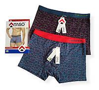 Мужские яркие трусы боксеры Taso в упаковке 2 шт хлопок+бамбук  Размер L XL 3XL