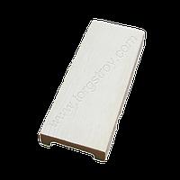 Панель декоративна біла 12*3,5 см, модерн, Decowood, фото 1