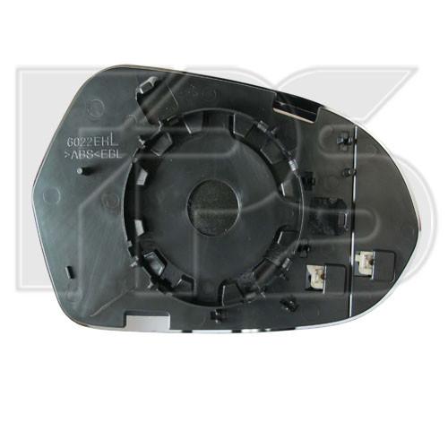 Вкладиш бічного дзеркала Audi A6 C7 11-17 з обігрівом асферичний, лівий