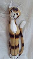 Статуэтка кошка деревянная высота 80см