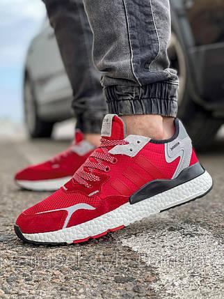 Кроссовки мужские 17297, Adidas Nite Jogger Boost 3M, красные, [ 41 42 43 44 45 ] р. 41-25,2см. 45, фото 2