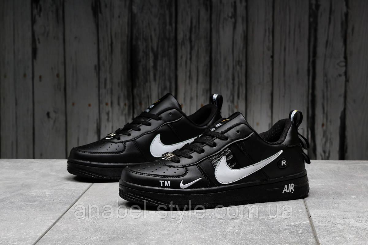 Кросівки жіночі 16693, Nike Air Force 1, чорні, [ 37 ] р. 37-23,0 див.