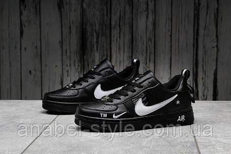 Кросівки жіночі 16693, Nike Air Force 1, чорні, [ 37 ] р. 37-23,0 див., фото 2