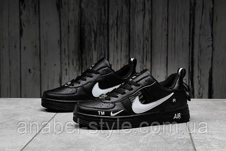 Кроссовки женские 16693, Nike Air Force 1, черные [ 37 ] р.(37-23,0см), фото 2