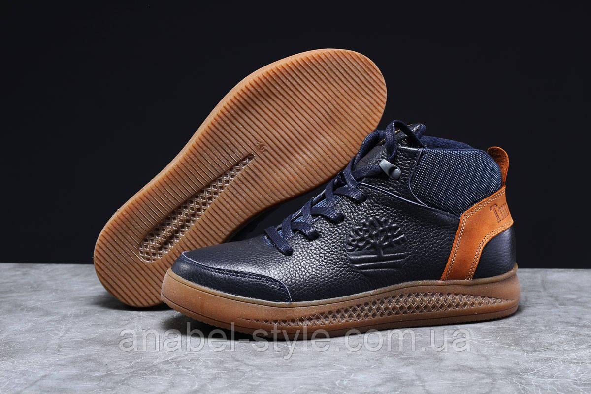 Зимові чоловічі кросівки 31382, Timbershoes Sensorflex (на хутрі), темно-сині, [ 43 ] р. 43-28,5 див.