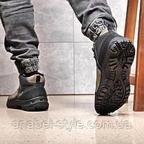 Зимние мужские ботинки 31861, Camel (на меху, в коробке), темно-серые [ 41 44 ] р.(41-27,5см), фото 2