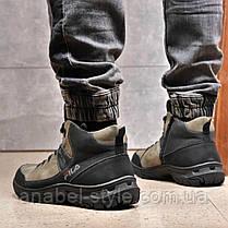 Зимние мужские ботинки 31861, Camel (на меху, в коробке), темно-серые [ 41 44 ] р.(41-27,5см), фото 3