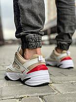 Кроссовки мужские 18206, Nike M2K Tekno, бежевые, [ 41 42 43 44 45 ] р. 43-27,8см., фото 2