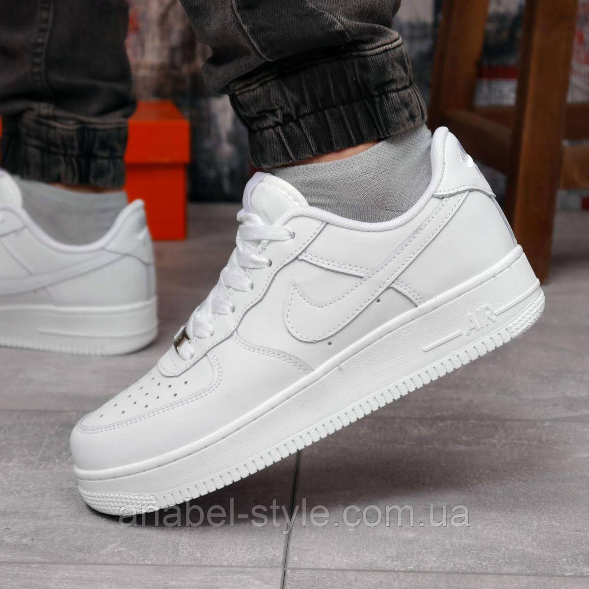 Кроссовки мужские 18231, Nike Air Force 1 (качество AAA), белые [ 43 45 ] р.(43-28,0см)