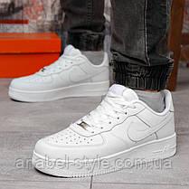 Кроссовки мужские 18231, Nike Air Force 1 (качество AAA), белые [ 43 45 ] р.(43-28,0см), фото 3