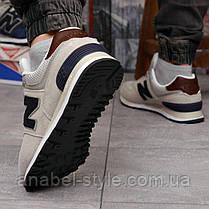Кросівки чоловічі 18242, New Balance 574, сірі, [ 41 42 43 44 45 46 ] р. 41-26,5 див. 42, фото 3
