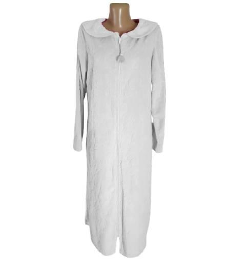 Женский домашний халат на молнии, р 46-48 ТМ Marks & Spencer, белый