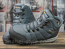 Зимові чоловічі кросівки 30982, Kajila Fashion Sport, темно-сірі, [ 43 ] р. 43-28,2 див., фото 3