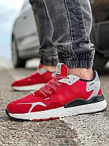 Кросівки чоловічі 17297, Adidas Nite Jogger Boost 3M, червоні, [ 41 42 43 44 45 ] р. 41-25,2 див. 42, фото 3