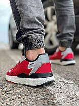 Кросівки чоловічі 17297, Adidas Nite Jogger Boost 3M, червоні, [ 41 42 43 44 45 ] р. 41-25,2 див. 42, фото 2