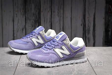 Кроссовки женские 17886, New Balance  574, фиолетовые, [ 38 39 ] р. 38-24,0см., фото 2