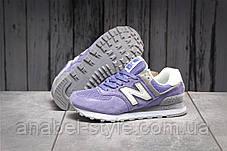 Кроссовки женские 17886, New Balance  574, фиолетовые, [ 38 39 ] р. 38-24,0см., фото 3