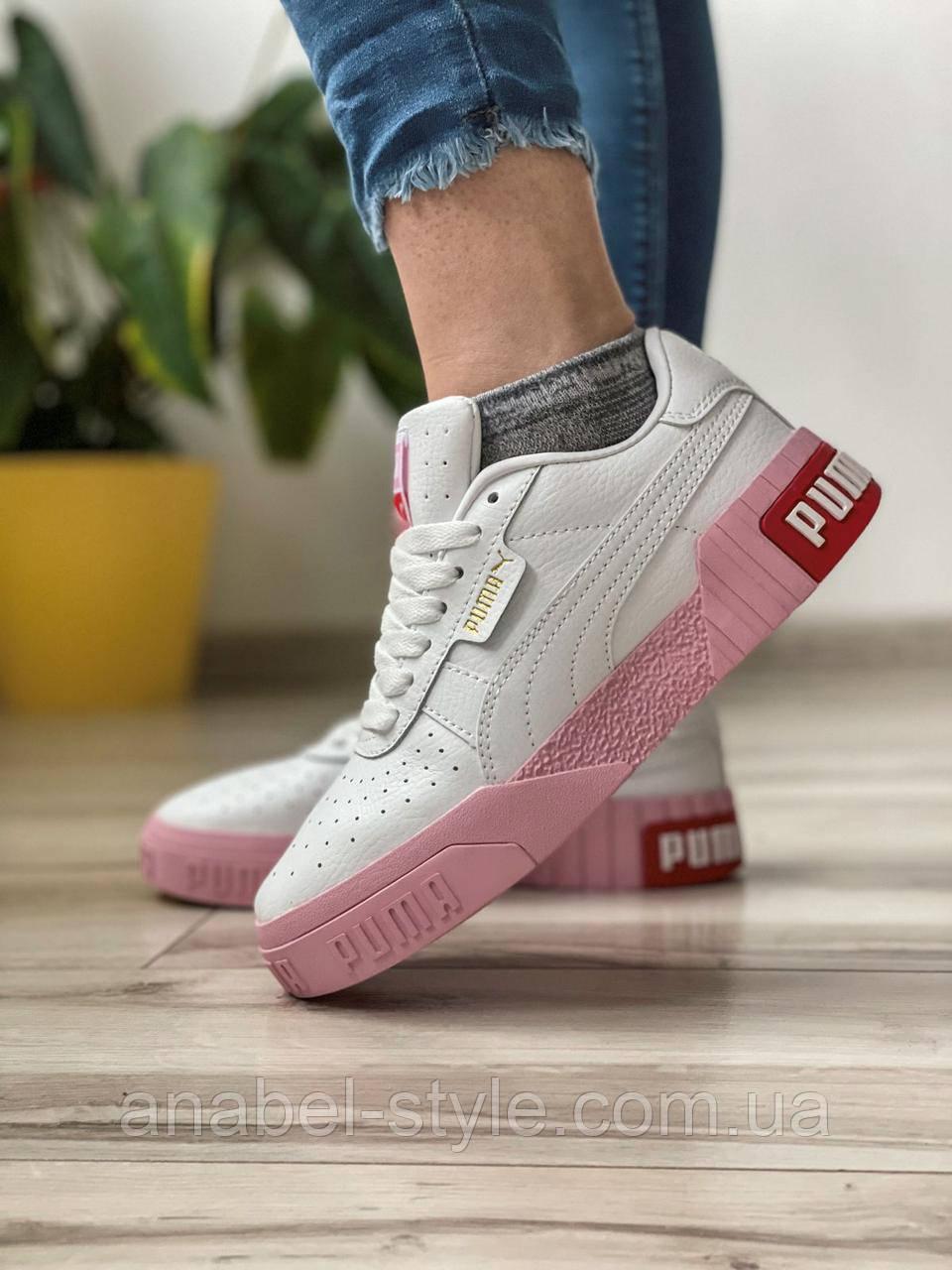 Кросівки жіночі 17991, Puma Cali Sport (TOP), білі, [ 36 37 38 39 ] р. 36-22,5 див.