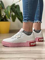 Кросівки жіночі 17991, Puma Cali Sport (TOP), білі, [ 36 37 38 39 ] р. 36-22,5 див., фото 3
