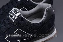 Кроссовки мужские 18033, New Balance  574, темно-синие [ 45 ] р.(44-28,2см), фото 3