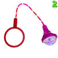 Детская нейроскакалка (Малиновый фонарик и Красный круг №2), Ice Hoop светящаяся скакалка на одну ногу (TI)
