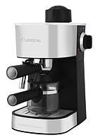 Кофемашина с капучинатором Lexical LEM-0601 (800W)   кофеварка для эспрессо и капучино с защитой от перегрева