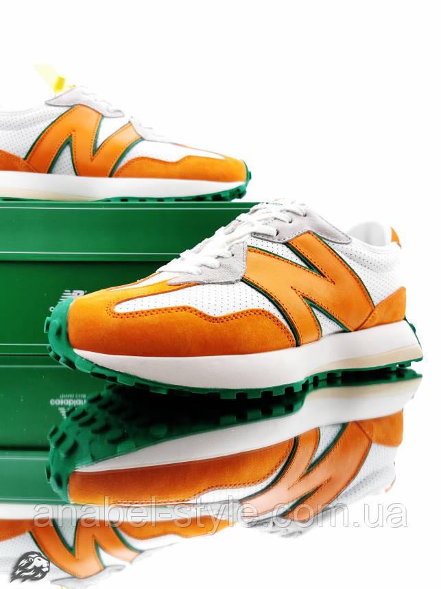 Кросівки чоловічі 20013, New Balance 327 Casablanca (MS327CBB), білі, [ 41,5 42 43 ] р. 42-26,5 див.