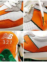 Кросівки чоловічі 20013, New Balance 327 Casablanca (MS327CBB), білі, [ 41,5 42 43 ] р. 42-26,5 див., фото 2