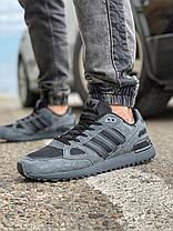 Кроссовки мужские 18162, Adidas ZX 750, темно-серые [ 43 44 ] р.(43-28,0см), фото 2
