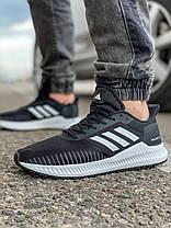 Кроссовки мужские 18461, Adidas Bounce + (TOP), черные, [ 41 42 43 44 ] р. 42-27,0см., фото 2