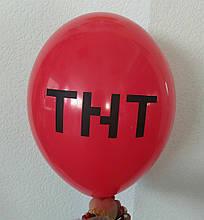 """Латексна кулька з малюнком Minecraft Майнкрафт TNT червоний 001 12"""" 30см Belbal ТМ """"Star"""""""