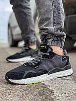 Кроссовки мужские 17298, Adidas Nite Jogger Boost 3M, черные, [ 41 42 43 44 46 ] р. 41-25,2см. 44, фото 2