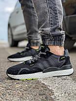 Кроссовки мужские 17298, Adidas Nite Jogger Boost 3M, черные, [ 41 42 43 44 46 ] р. 41-25,2см. 44, фото 3