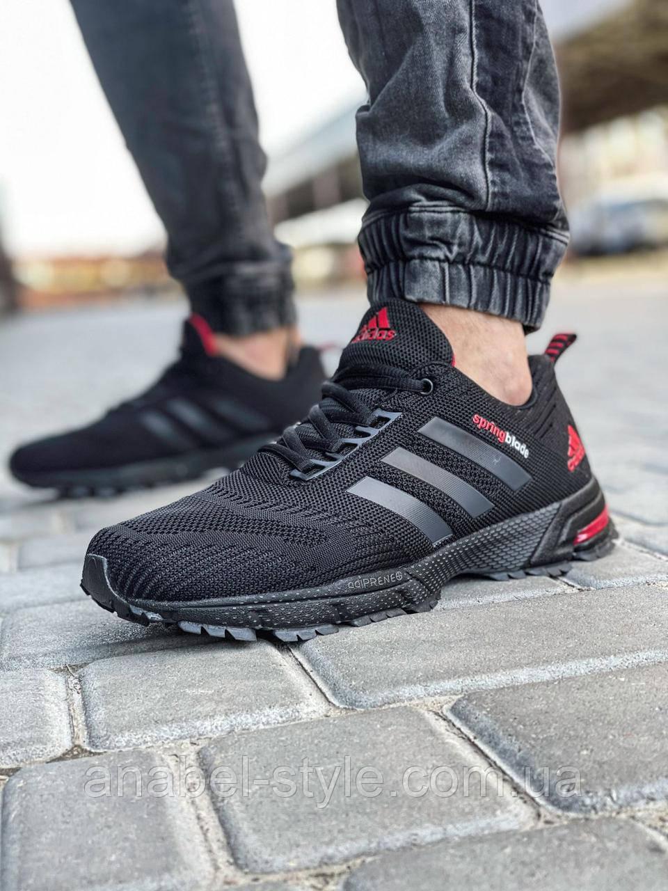Кросівки чоловічі 18603, Adidas Spring Blade, чорні, [ 41 42 43 44 45 46 ] р. 41-26,5 див.