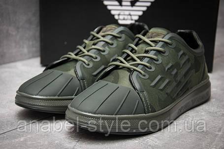 Кросівки чоловічі 12193, Giorgio Armani, зелені, [ 46 ] р. 46-29,4 див., фото 2