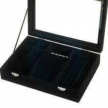 Шкатулка для прикрас 20х28х6,5 см (Чорний)
