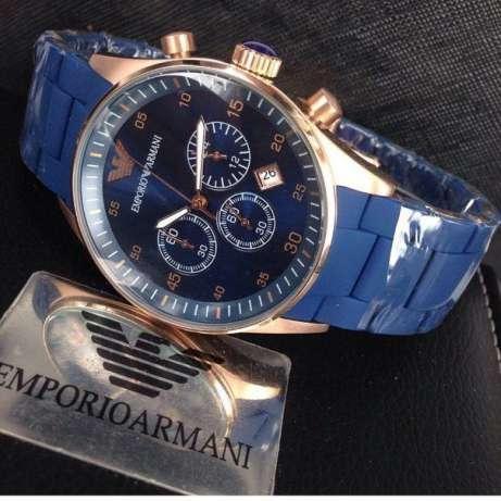Наручные часы Emporio Armani Мужские Синий NEW Брендовые Армани эмпорио на руку Кварцевые ТОП!