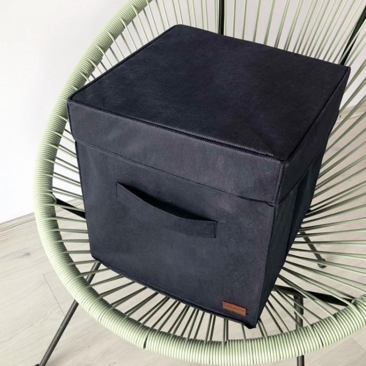 Короб складной с крышкой 30х30х30 см (Синий)