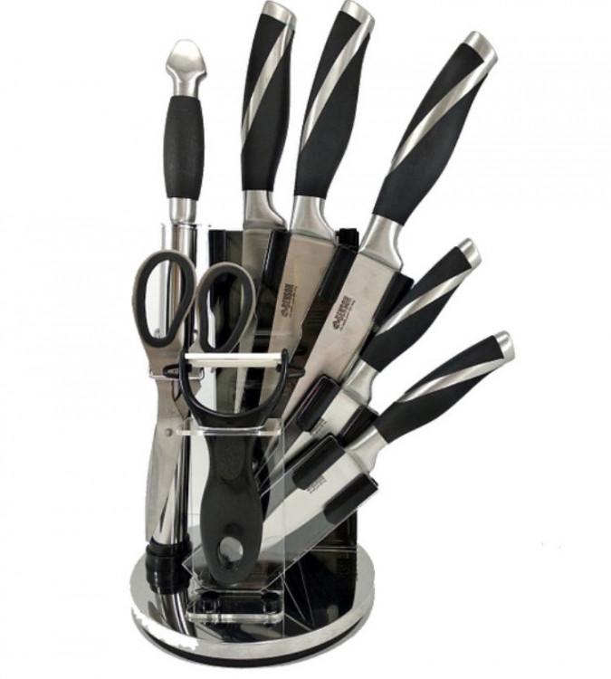 Набір кухонних ножів 8 предметів з підставкою BENSON