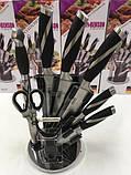 Набір кухонних ножів 8 предметів з підставкою BENSON, фото 3