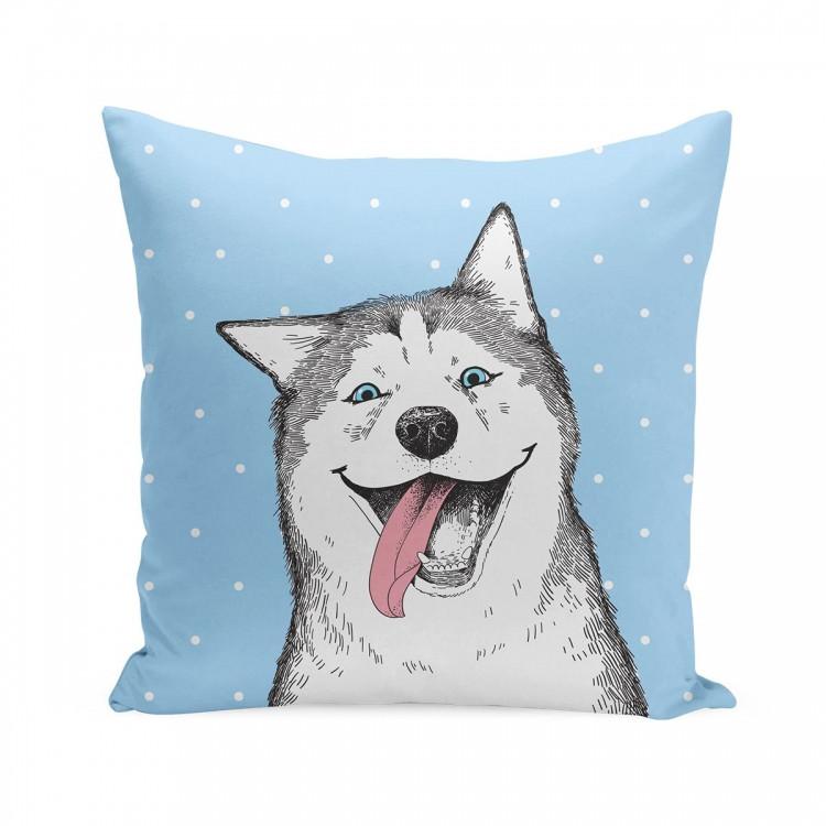 Подушка собака Хаски