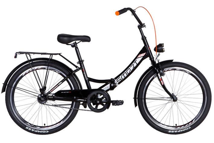"""Велосипед складной 24"""" Formula Smart Vbr с фонарём 2021 черно-оранжевый, фото 2"""